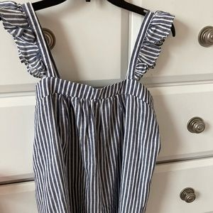 Old Navy blue stripped tank!